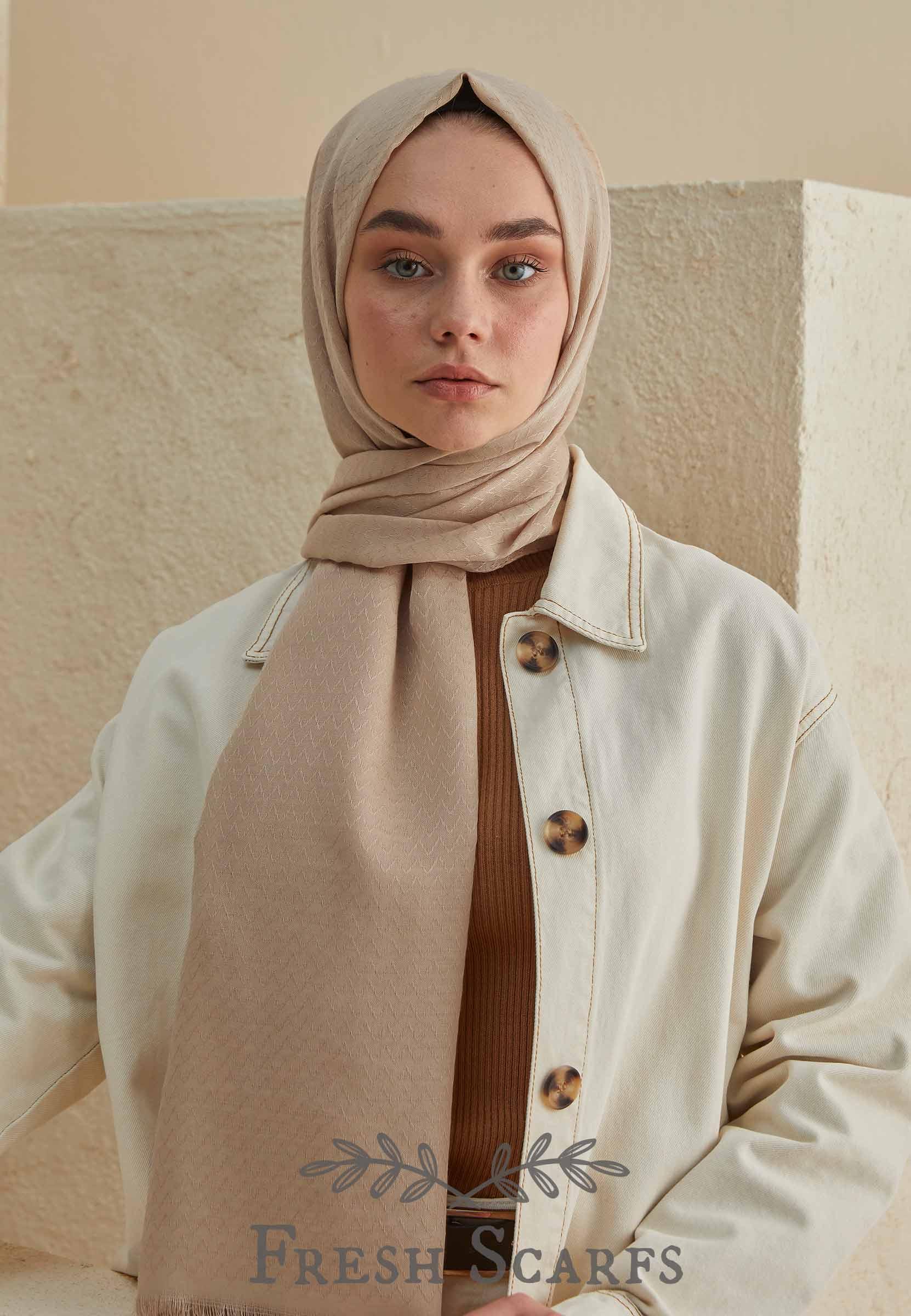 zigzag pattern shawl mink