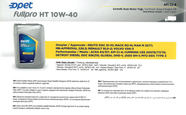 Fullpro HT 10W-40