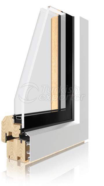 Sistemas de puertas y ventanas de aluminio de madera -Integral