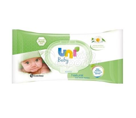 Toalla húmeda Uni Baby Natural 56 pzas.