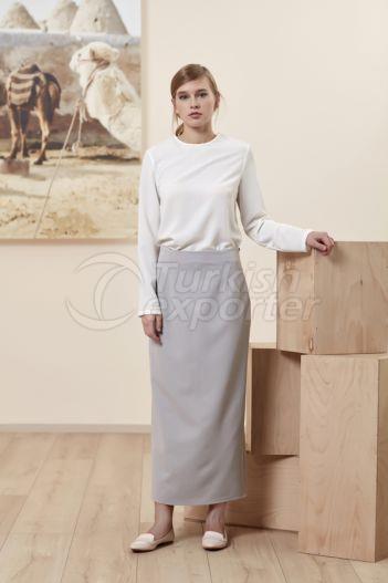 Pencil Skirt 4511 Gray