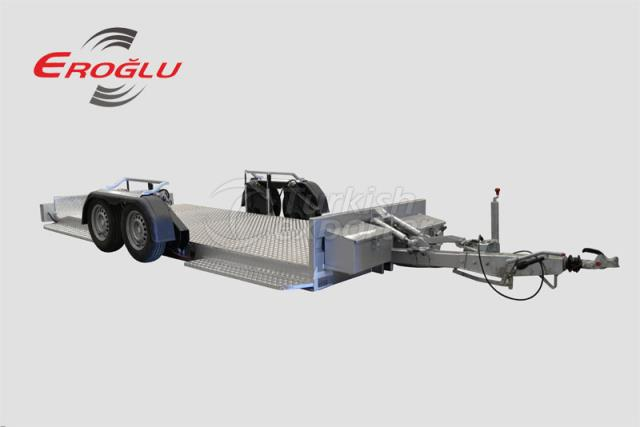 Lowering axle transport trailer
