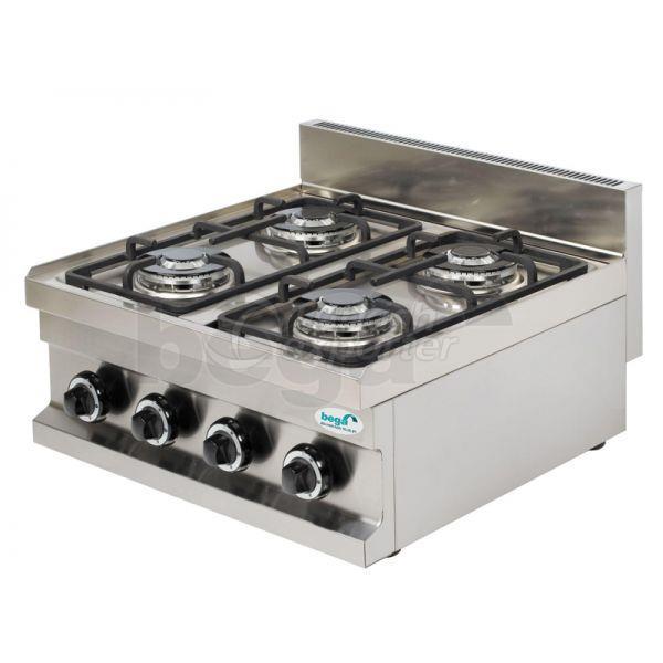 Gas Cooker 4 Burners Countertop