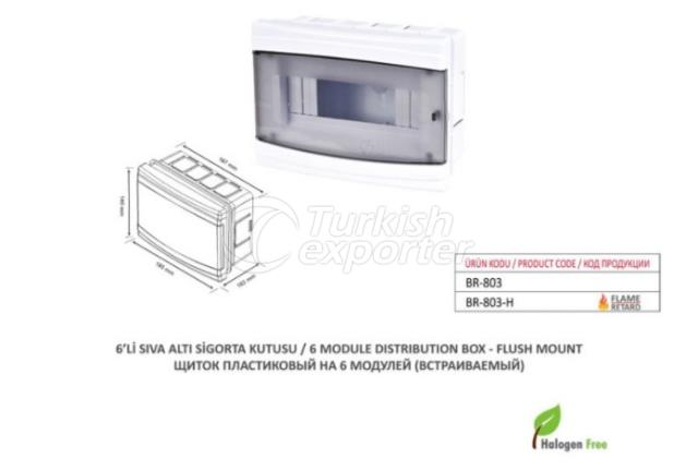6 Module Distribution Box-Flush Mount