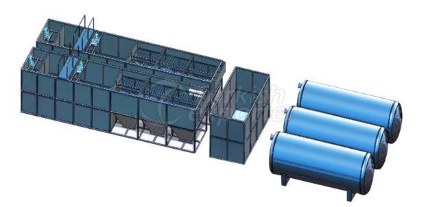 نظام معالجة مياه النهر مع Lamella Clarifier