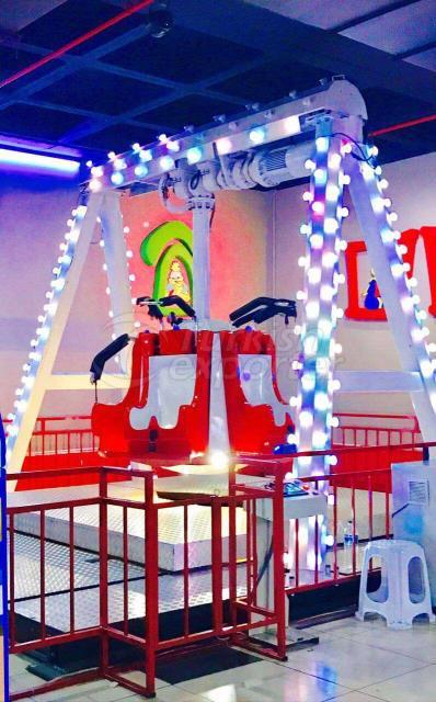 Mini máquinas del parque de atracciones