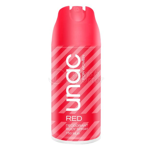 UN7044 - UNAC WOMEN DEODORANT RED