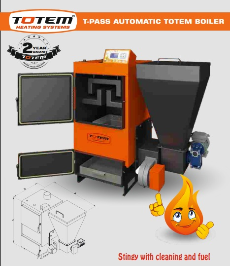 T-Pass Auto loading multi fuel boiler.