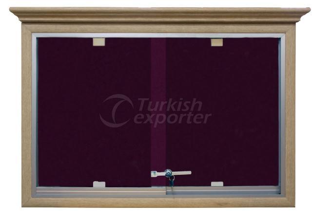 Wooden Window Corkboard