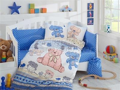 Tombik azul - conjunto de roupa de cama de bebê (8698499125094)