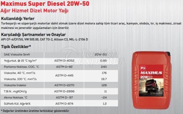 Maximus Super Diesel 20W-50