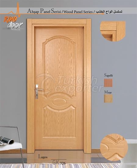 باب لوحة خشبية - لاغوس