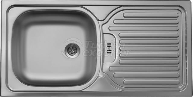 Inset sink 435x860 mm