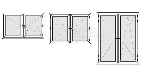 Double Wing Window Profiles