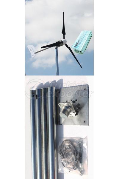 1 KW Wind Turbine - Pole Set