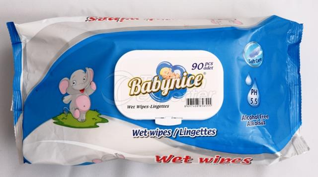 Baby Nice 90 Pcs Wet Wipes
