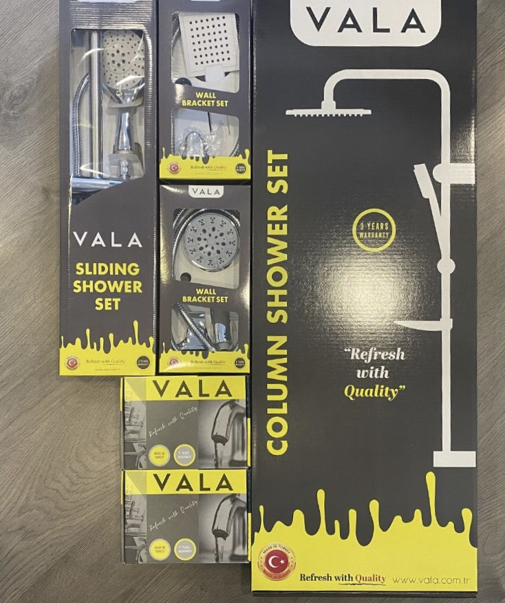 VALA SHOWER AND FAUCET PRODUCTS