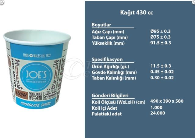 Paper Container 430 cc