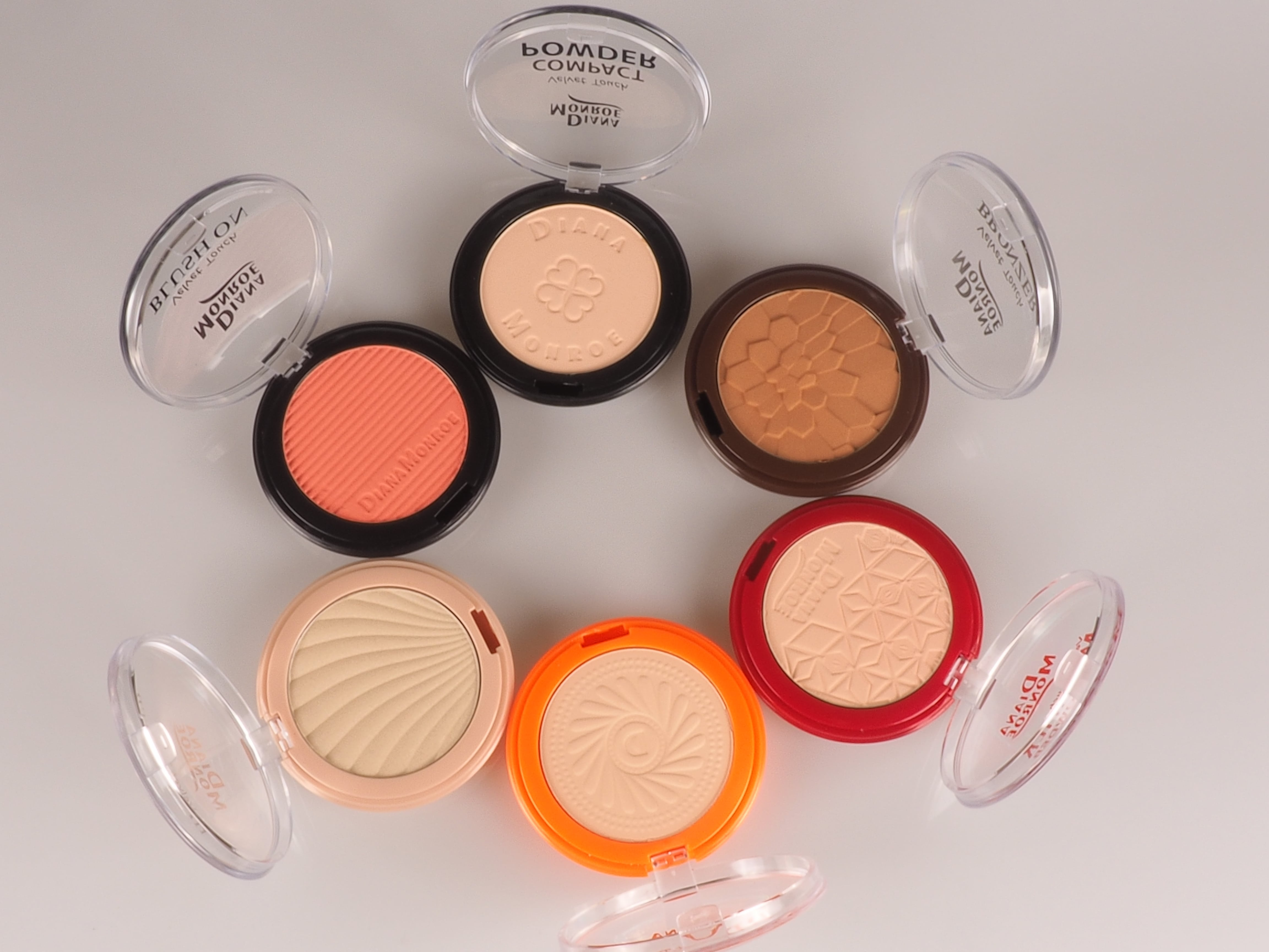 Pressed Powder, Blusher , Highlighter, Bronzer Series