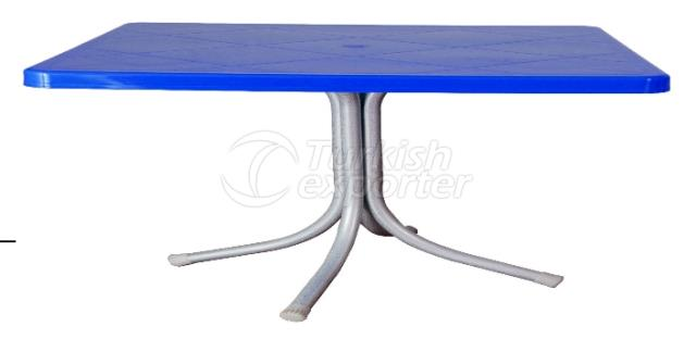 Table With Metal Leg Fixed Folded