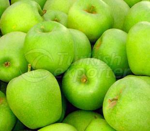Manzana pelada fresca congelada