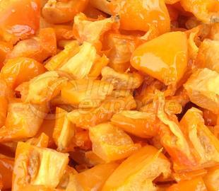 Tomates jaunes surgelées surgelées au four (semi-séchées) IQF