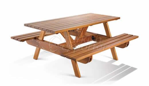 Table de jardin en bois BM003