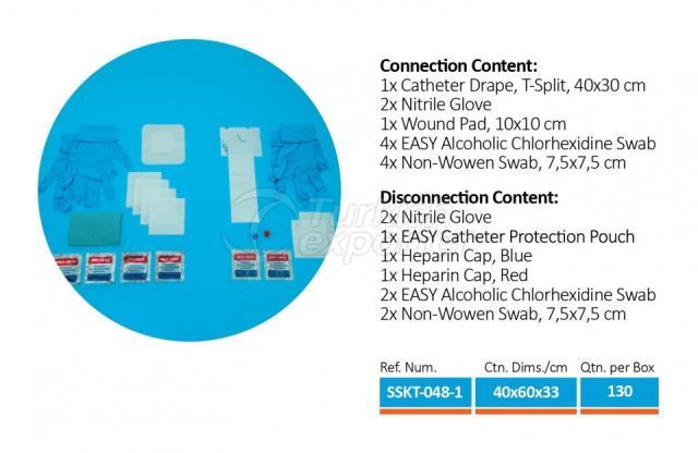 Connexion du cathéter d'hémodialyse - Set de déconnexion