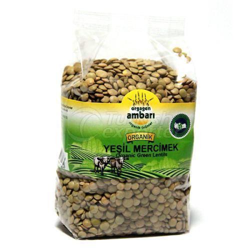 Organic Green Lentil 500 Gr
