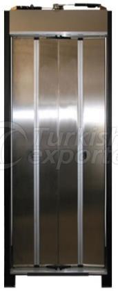 Porta do elevador dobrável