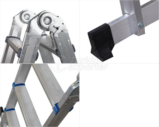 Aluminium Double Side Ladder with Hinge