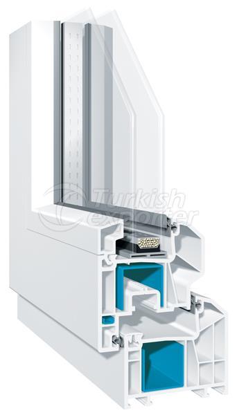 Line x70  pvc pencere