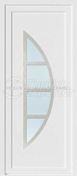 Paneles de puerta de PVC Inox 20006