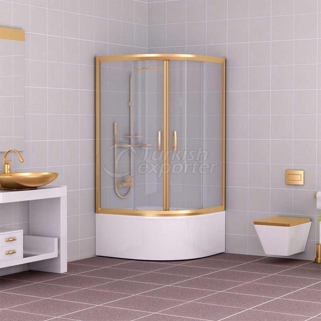 Oval Shower Cabin Gold