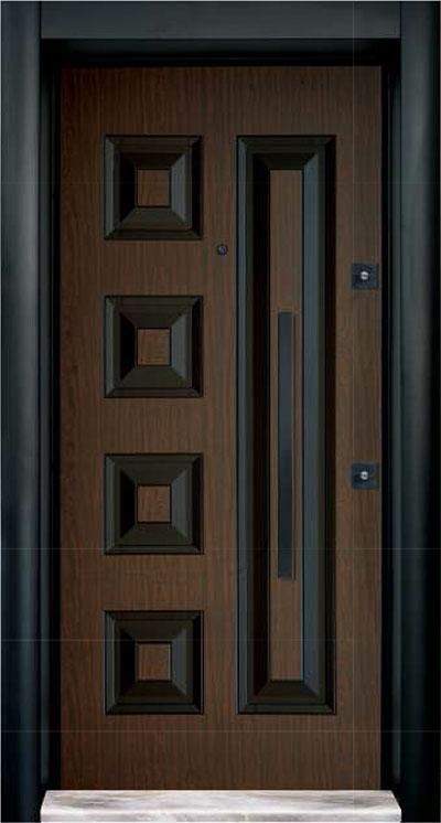 Rustic Cylinder  Steel Door 7716