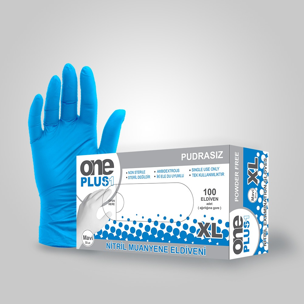 POWDERED FREE NITRILE GLOVES