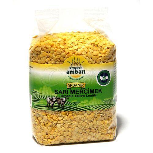 Organic Yellow Lentil 500 Gr