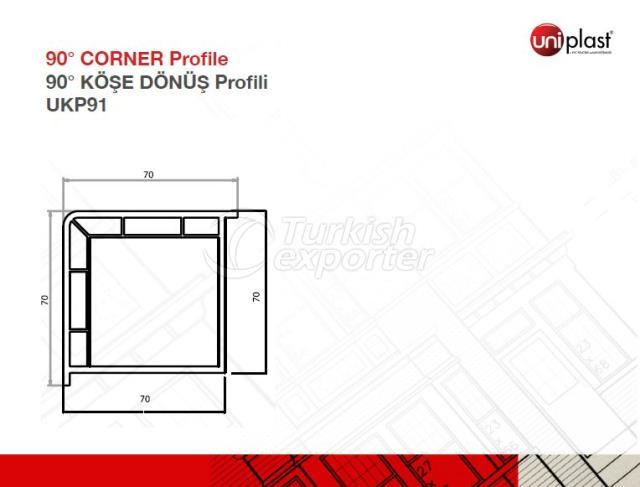 90o Corner Profile UKP91