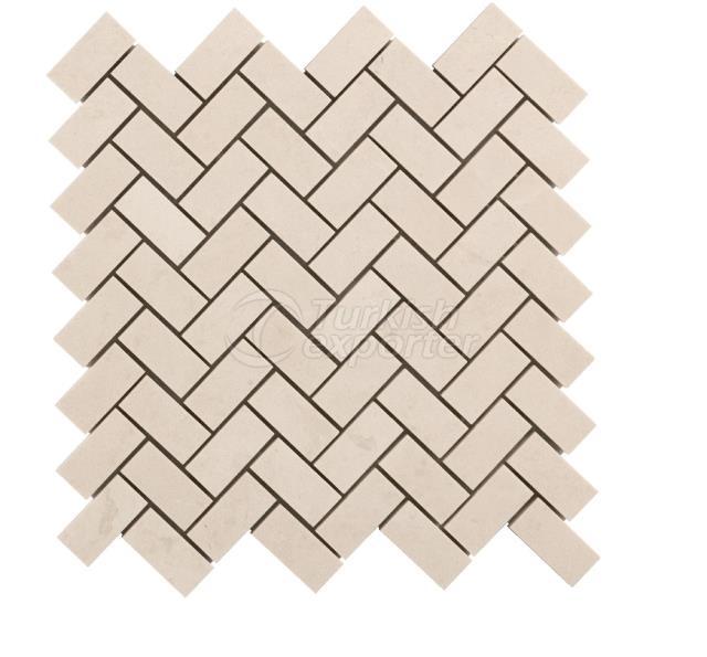 Herringbone Mosaic 2,3x4,8 Bottocino