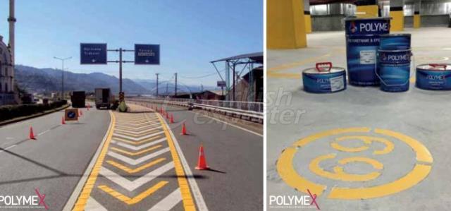 Tinta acrílica para marcação de estradas à base de água