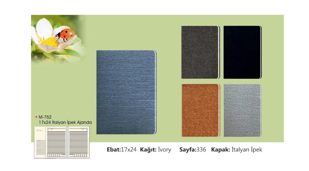 M-752 Italian Silk Diary