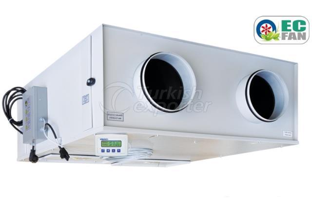 VHR EC Heat Recovery Units with EC fan