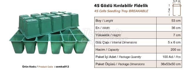 45 cellules d'ensemencement cassables