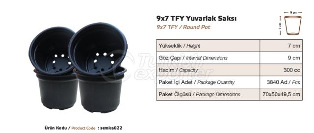 9x7 Round Pot