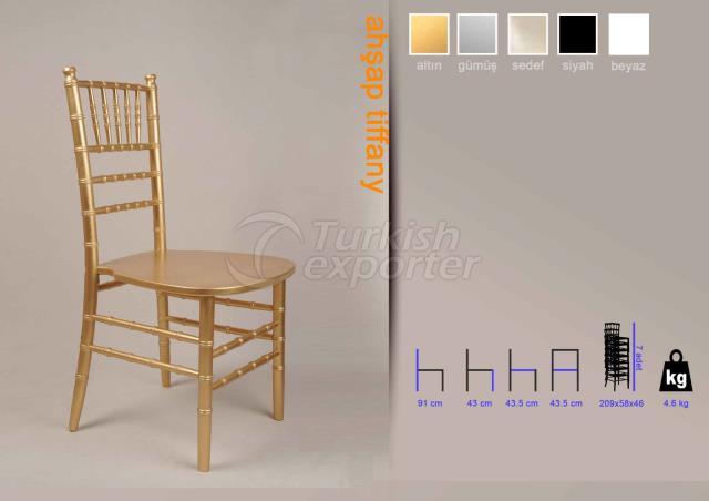 Wood Tiffany Chair Gold