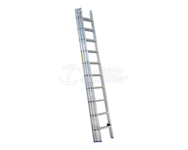 3 Section Aluminum Industrial Ladder