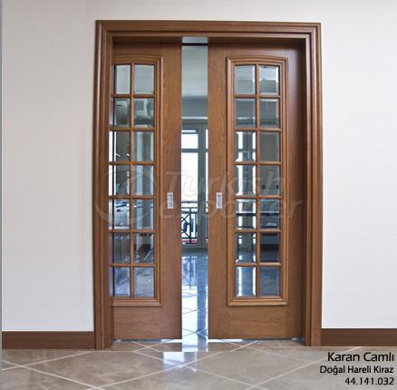 Ahşap Kapı Karan 14 Camlı