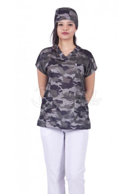 Women Patterned Apron Model-24
