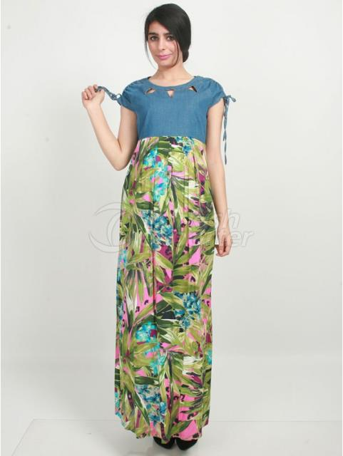 Maternity jeans Combi Patterned Dress