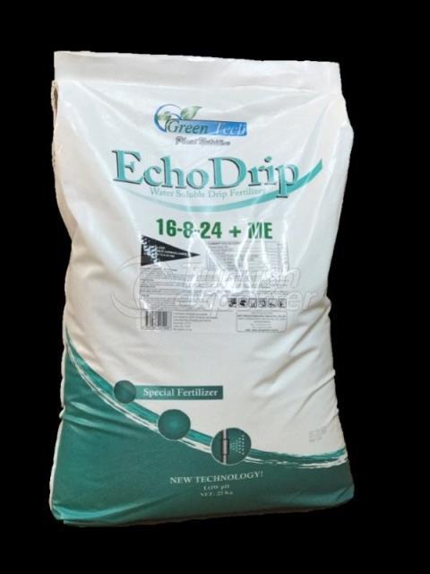 EchoDrip 16-8-24 ME-Spesific chelats 100% Water Soluble Drip Fertilizer